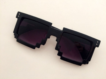 Gaga black and gray piece Sunglasses Glasses