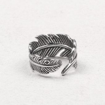 Gaoqiaowulang retro men and women tail ring feather Ring