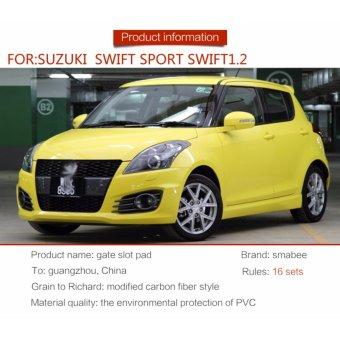 Gate slot pad For SUZUKI swift SPORT swift 1.2 Accessories,3DRubber Car Mat 16pcs RED - intl - 3