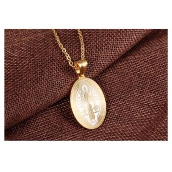 G@Best Saint Benedict Necklace & Pendant - Gold - 3