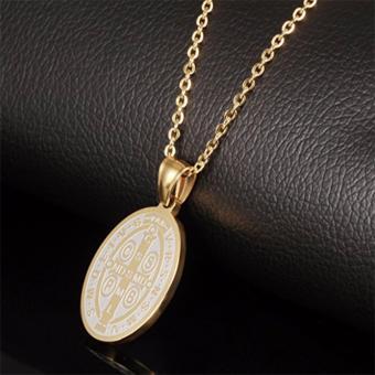 G@Best Saint Benedict Necklace & Pendant - Gold - 2