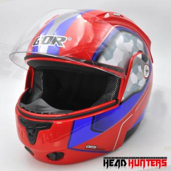 GDR A993-1 Full Face Modular Helmets (Red/Blue) Price Philippines