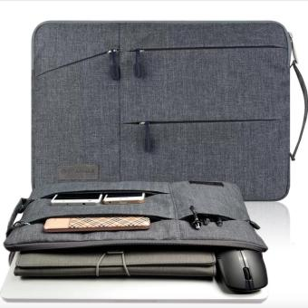 Gearmax Travellers Multi-functional Nylon Water Resistant with Side Pockets Laptop Handbag for 13.3 Inch Macbook Air Pro / Notebook / Surface / Dell Sleeve Case Cover Bag - intl