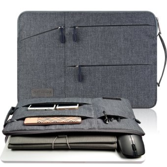 Gearmax(TM) Travellers Multi-functional Nylon Water Resistant withSide Pockets Laptop Handbag for 13.3 Inch Macbook Air Pro /Notebook / Surface / Dell Sleeve Case Cover Bag (13.3 Inch,Gray) -Intl