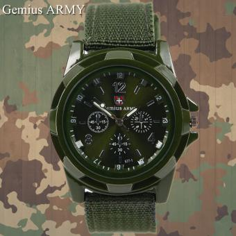 GEMIUS ARMY Military Sport Style Army Men's Green Canvas Strap Watch Price Philippines