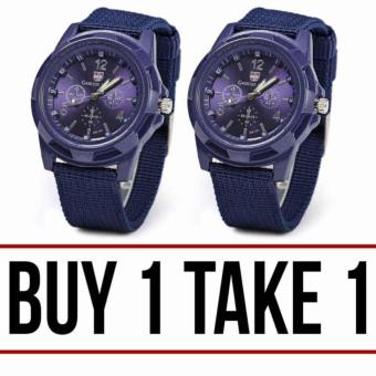 GEMIUS ARMY Military Sport Style Army Men's Blue Canvas Strap WatchBUY 1 TAKE 1 Price Philippines