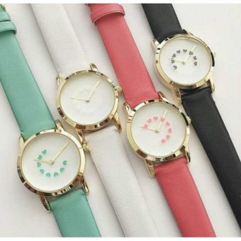 Geneva 4 In 1 Fashion Ladies Casual Bracelet Quartz Wrist Watch Cs-1