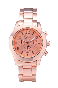 Geneva 5800 Brand Lover Watch Stylish Alloy Quartz Watch (Rose Gold)