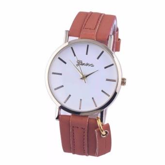 Geneva Aileen Women's Leather Strap Watch Buy 1 Take 1 (black andbrown) - 2