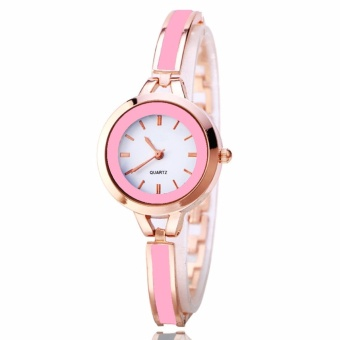Geneva Camille Fashion Ladies Casual Bracelet Quarts Wrist Watch(Pink)