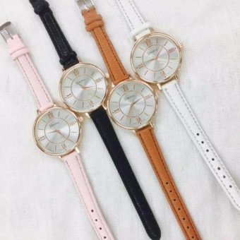 Geneva Christina Classic Roman Numerals Leather Watch (All 4Colors)