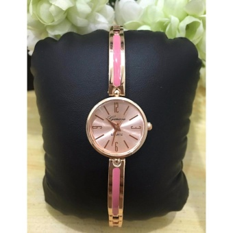 Geneva Claire Fashion Ladies Casual Bracelet Quarts Wrist Watch ( Pink)