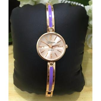 Geneva Claire Fashion Ladies Casual Bracelet Quarts Wrist Watch(Purple)
