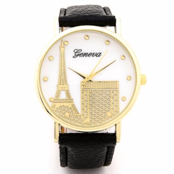 Geneva Eiffel Tower Watch Black