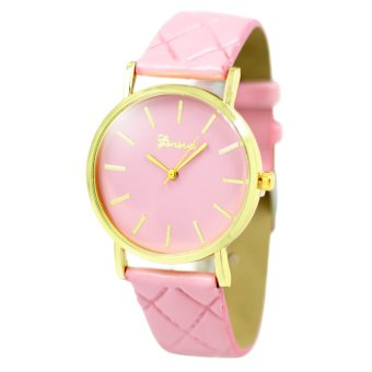 Geneva Elizabeth Women's Pink Leather Strap Watch B2GLW165