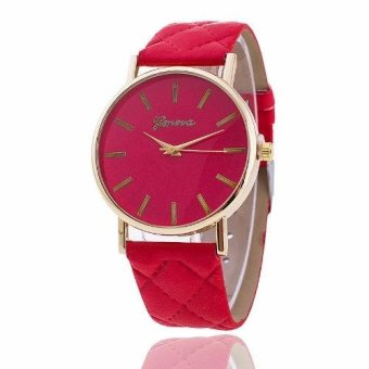 Geneva Elizabeth Women's Leather Strap Watch