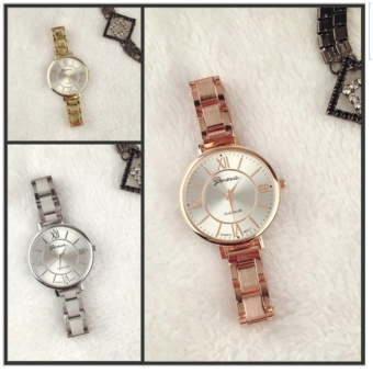 Geneva Euki Slim Women's Wrist Watch 3 set (Rosegold,Gold,Silver) with free 1 pc Perfume Atomizer (color may vary) - 2
