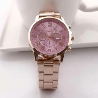 Geneva Fashion Rosegold Strap Watch (Pink)