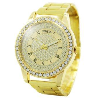 Geneva Jaden Stainless Steel Watch (Gold)