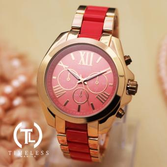 Geneva Laura Gold Two Tone Metal Watch (Red) Price Philippines