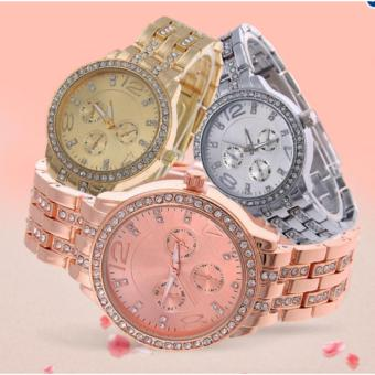 Geneva Macey Stainless Steel Strap Watch Set of 3