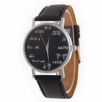 Geneva Mathematical Equations Elegant Wrist Watch (All Black)