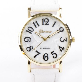 Geneva Mother Of Pearl Dial Ladies Watch (White)