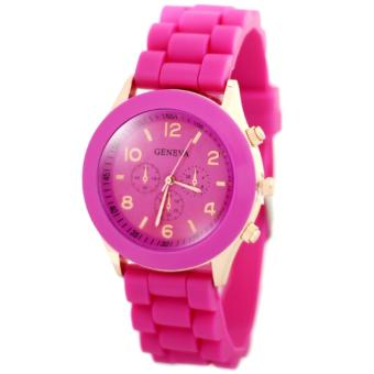 Geneva Nikka Women's Silicon Strap Watch (Hot Pink)