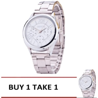 Geneva Silver/White Roman Numerals Wrist Watch Buy 1 Take 1