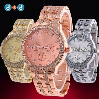 Geneva SY-13 Women's Stainless Steel Strap Watch Set of 3 (Silver/Gold/Rosegold) - 3