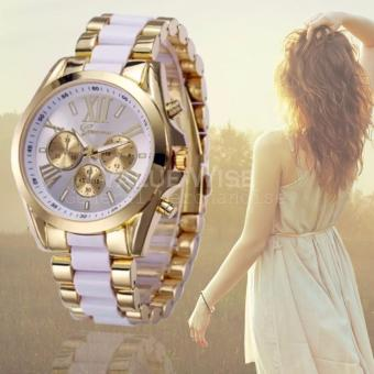 Geneva Three Eyes Strip Women's Two-Tone Stainless Steel Strap Watch 179