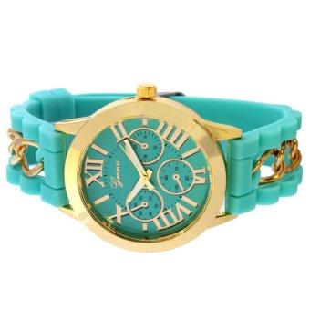 Geneva Victoria Women's Silicone Strap Watch (Mint Green) - 3
