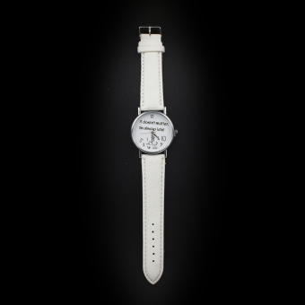 Geneva Women's Casual Watch Doesn't Matter White Leather Strap GE008Q