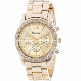 Geneva Women's Chronograph Style Deluxe Colored Stainless Steel