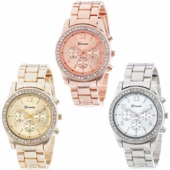 Geneva Women's Chronograph Style Deluxe Colored Stainless Steel - 2