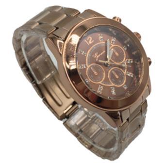 Geneva Women's Classic Steel Stone Watch (Bronze) - 2