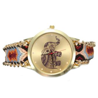 Geneva Women's Multicolor Fabric Strap Watches
