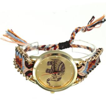 Geneva Women's Multicolor Fabric Strap Watches - picture 2
