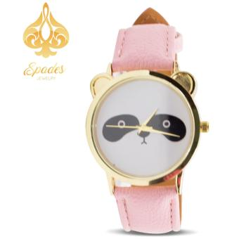 Geneva Women's Panda Pink Leather Strap Watches Price Philippines