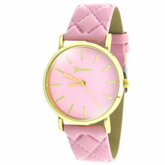 Geneva Women's Pink Leather Strap Watch