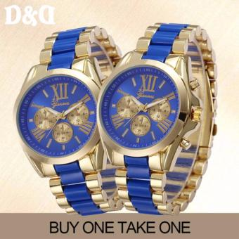 GENEVASY-10 Women's Two-Tone Stainless Steel Strap Watch Buy OneTake One