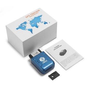 Geo-fence TK206 OBDII GPS GPRS Real Time Tracker Car VehicleTracking System Quad Band Anti-theft Vibration Alarm (Blue) - intl