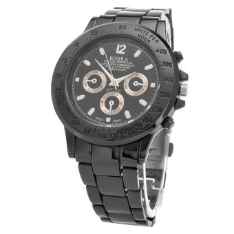 GETEK Men's Stainless Steel Analog Quartz Wrist Watch (Black) - picture 2