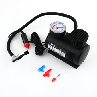 Gift Black Portable 12V Auto Car Electric Air Compressor Tire Infaltor Pump 300 PSI Black - intl