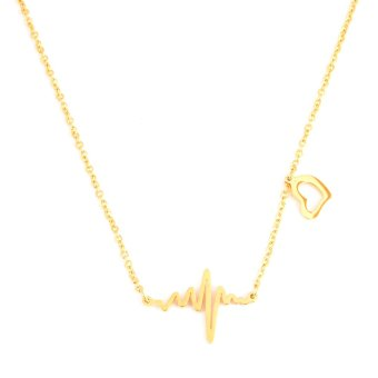 Glamorosa Clavicle Chain Necklace (Gold)
