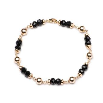 Glamorosa Duo Black Onyx Accent Charm Bracelet (Gold) Price Philippines