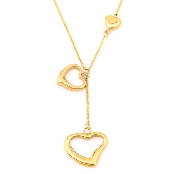Glamorosa Duo Heart Necklace (Gold)