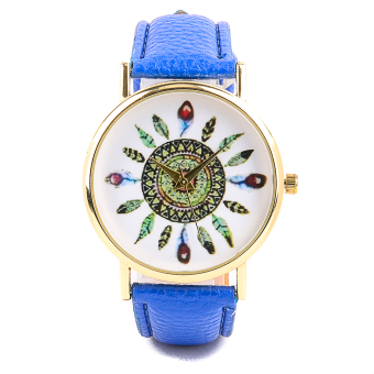 Glamorosa Geneva Tribal Feather Ladies Leather Watch (Blue) Price Philippines