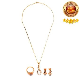 Glamorosa Huge Diamond infinity Accesory Set (Gold) Price Philippines