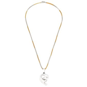 Glamorosa Love You Couple Necklace (Two-Tone) Price Philippines